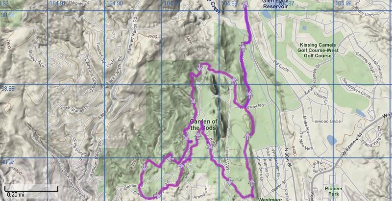 Garden Of The Gods Colorado Map.Garden Of The Gods Trails